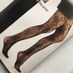 Sexy Black Lace Tights Panty Hose Stockings OSFM